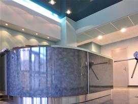 Холл и кафе в бизнес центре Берег